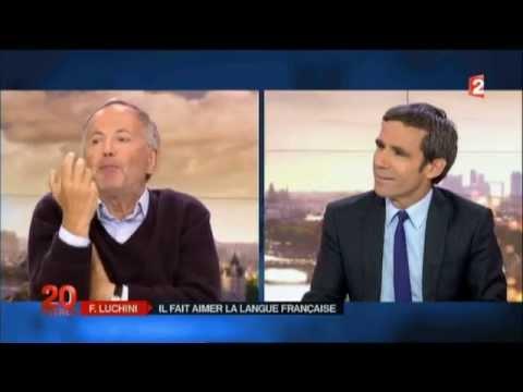 """Fabrice Luchini sur France 2 """"S'il y a un mot essentiel, c'est le mot héritage"""""""