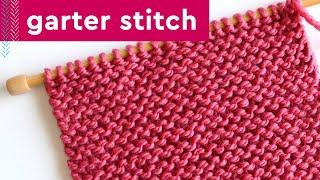 Garter Stitch Knitting Pattern For Beginners
