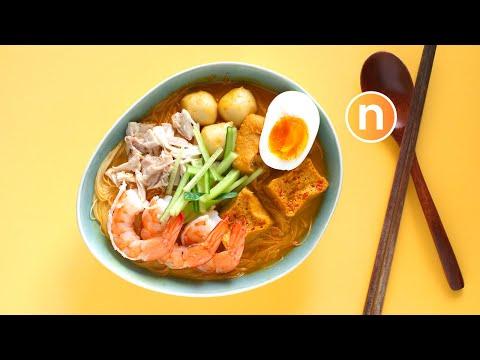 Laksa Lemak     Malaysian Curry Noodles with Coconut Milk   Nyonya Laksa [Nyonya Cooking]