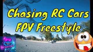 Chasing RC Cars FPV Freestyle
