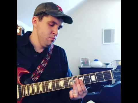 Working on those ghostly slide licks to help build suspense