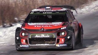 Citroën C3 WRC 2017 Sound - Lefebvre & Meeke In Action at Rallye Monte Carlo 2017