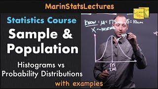 Sample and Population in Statistics   Statistics Tutorial   MarinStatsLectures