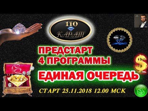 110 Карат - ПРЕДСТАРТ 4 алмазной программы - обзор макетинга живой очереди