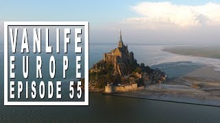 Vanlife Vlog: Mont Saint-Michel and WWII sites in Normandie