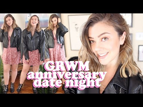 SIZE 14 GET READY WITH ME - THREE YEAR ANNIVERSARY DATE NIGHT | LUCY WOOD
