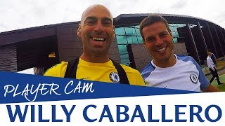 Caballero Takes You To Training With Him, Courtois And Eduardo | Player Cam
