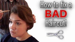 How to Fix a Bad Haircut | Fixing Bad Short Haircut | Morrocco Method