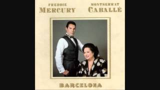 "Video thumbnail of ""Freddie Mercury and Montserrat Caballe - Ensueno - Barcelona - LYRICS (1988) HQ"""