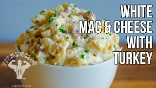 Hi-Protein Mac & Cheese Comfort Food Recipe / Macarrones y Queso con Pavo