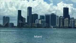 Miami Skyline August 2017 One of best skyline in USA