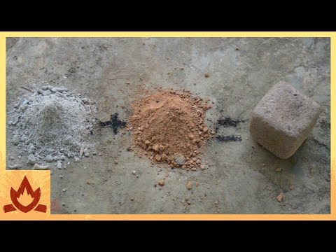 Primative Technology: Wood Ash Cement