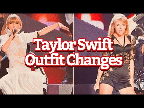 Taylor Swift | Onstage Costume Changes (Compilation)