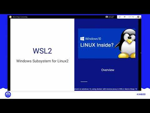 JAB20 – Joomla development on Windows 10, using Docker and Traefik in Windows Subsystem for Linux 2