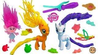 My Little Pony Twisty Twirly Wax Hair Styles MLP Makeover Playset with Trolls Poppy + Branch - Video