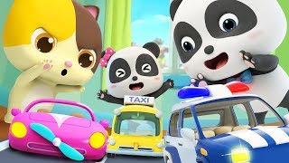 Toy Car Race   Police Car, Fire Truck, Ambulance   Nursery Rhymes   Kids Songs   BabyBus