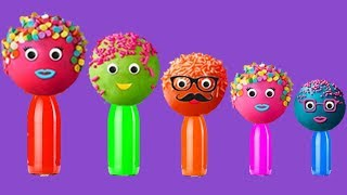 CakePop Cake pop Finger Family lollipop song, Candies, ball balloons colors learn