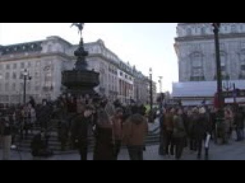 Trailer for new Bond movie shown in London's Piccadilly Circus