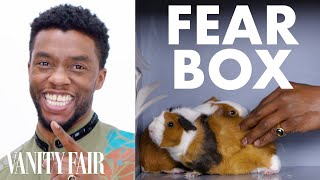 Black Panther Cast Touches a Chameleon, a Guinea Pig, and Other Weird Stuff | Fear Box | Vanity Fair - dooclip.me