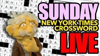 Sunday Crossword Puzzle - LIVE!