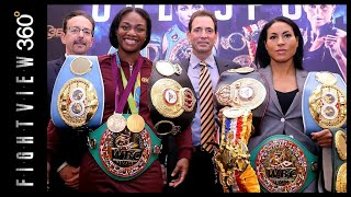 CECILIA BRAEKHUS & CLARESSA SHIELDS SHOW OFF THEIR BELTS! WILL THEY FIGHT? BRAEKHUS LOPES PREVIEW!