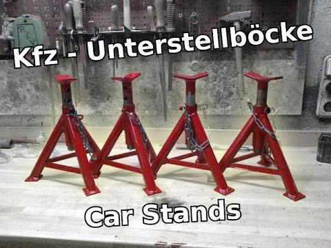 Unterstellböcke selbst gemacht   Car Stands