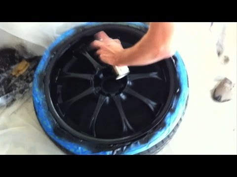 How to paint your car wheels black
