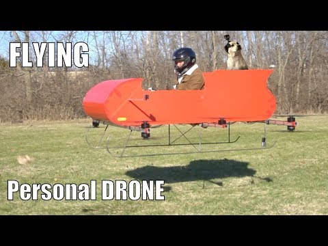 FLYING Manned Personal Drone part 2!