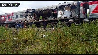 В ХМАО в ДТП с участием пассажирского поезда и самосвала пострадали 17 человек