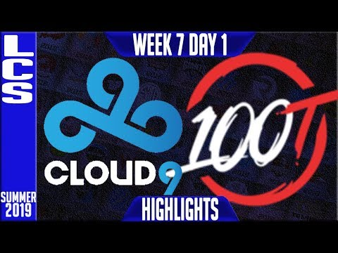 C9 vs 100 Highlights | LCS Summer 2019 Week 7 Day 1 | Cloud9 vs 100 Thieves