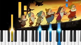 Heigh-Ho - Snow White and the Seven Dwarfs - EASY Piano Tutorial