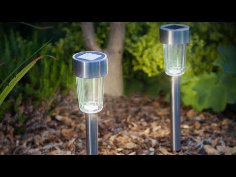 Lampa Solara LED din Metal Argintiu