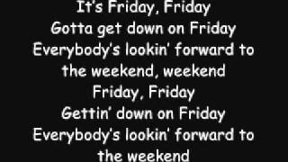 Rebecca Black - Friday (Lyrics) - YouTube