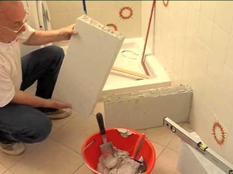 Rifare il bagno | Costruire un muretto in gasbeton per il lavabo