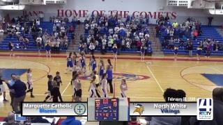 Marquette Catholic vs North White -Caston Class 1A Girls Basketball Regional Championship Game