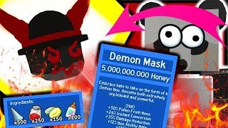 CRAFTING EPIC *DEMON* MASK & STUMP FIELD GRANDMASTER | Roblox Bee Swarm Simulator