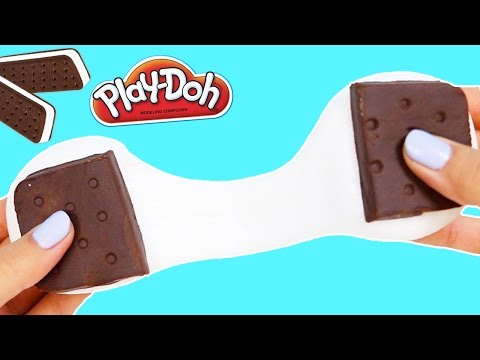 How to Make Slimy Play Doh Ice Cream Sandwich | DIY Fun & Easy Play Dough Ice Cream Slime!