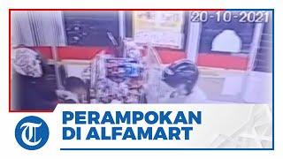 Viral Video Kasir Alfamart Dirampok di Muara Enim, Ambil Uang Dalam Brankas dan Terekam CCTV
