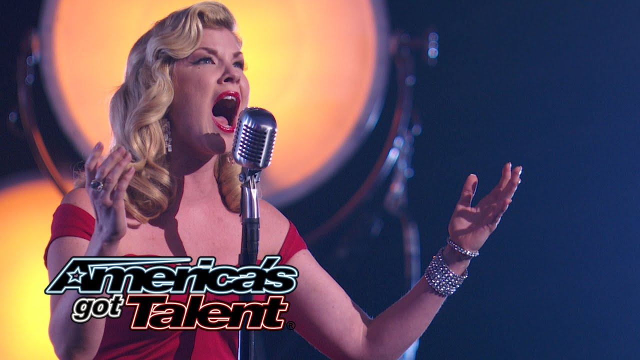 """Emily West: Seductive Songstress Sings """"Who Wants to Live Forever""""- America's Got Talent 2014 thumbnail"""