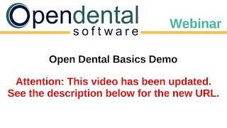 Open Dental video