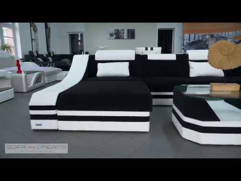 Sofa Dreams Wohnlandschaft Sofa Couch Turino XXL Stoff, Webstoff