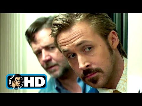 THE NICE GUYS Movie Clip - Elevator Shoot-Out (2016) Ryan Gosling, Russell Crowe