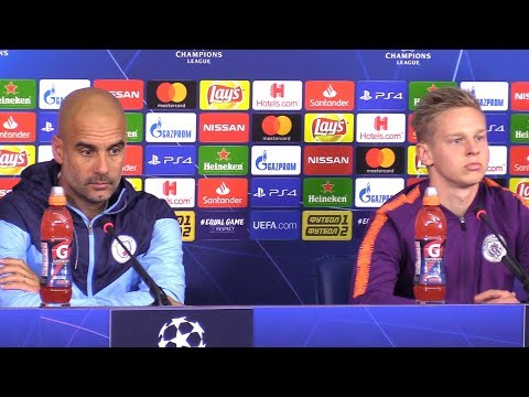 Pep Guardiola & Oleksandr Zinchenko Pre-Match Press Conference - Shakhtar Donetsk v Manchester City