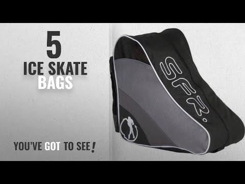 Top 10 Ice Skate Bags [2018]: SFR Ice/Inline/Roller Skate Carry Bag - Black BAG003BLA