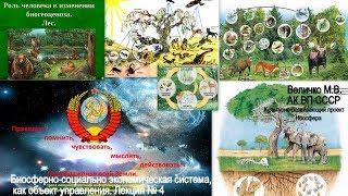 Культурно-развивающий проект Ноосфера. Величко М.В. Биосферно-социально-экономическая система. 4.