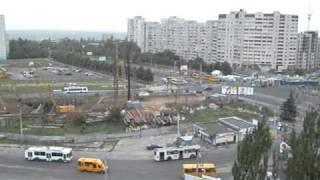 Харьковское метро.Пр-кт победы.The Kharkov Underground Train,building