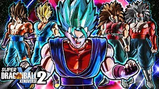 NEW EVIL SAIYAN SAGA PACK - Dragon Ball Xenoverse 2 Alternate Vegito & Cumber Gameplay (ALL CUSTOM)