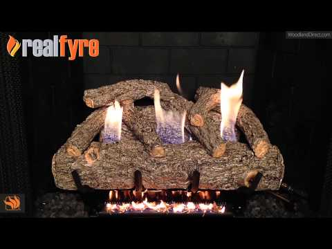 Real Fyre Golden Oak Designer Ventless Gas Log Set