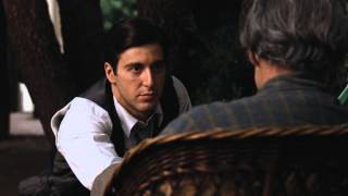 Marlon Brando & Al Pacino Best scene from Godfather 1972
