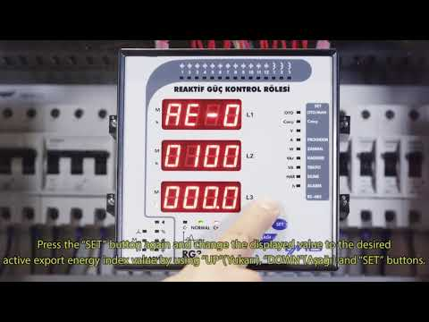 RG3-15 CLS Power Factor Controller Entering Active Export Energy İndex Value